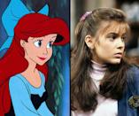 """<div class=""""caption-credit""""> Photo by: Walt Disney/Getty Images</div><b>Ariel/Alyssa Milano</b> <br> While actress Sherri Stoner was the live action model for Ariel from """"The Little Mermaid"""" (1989) the animators were also inspired by then 16-year-old Alyssa Milano."""