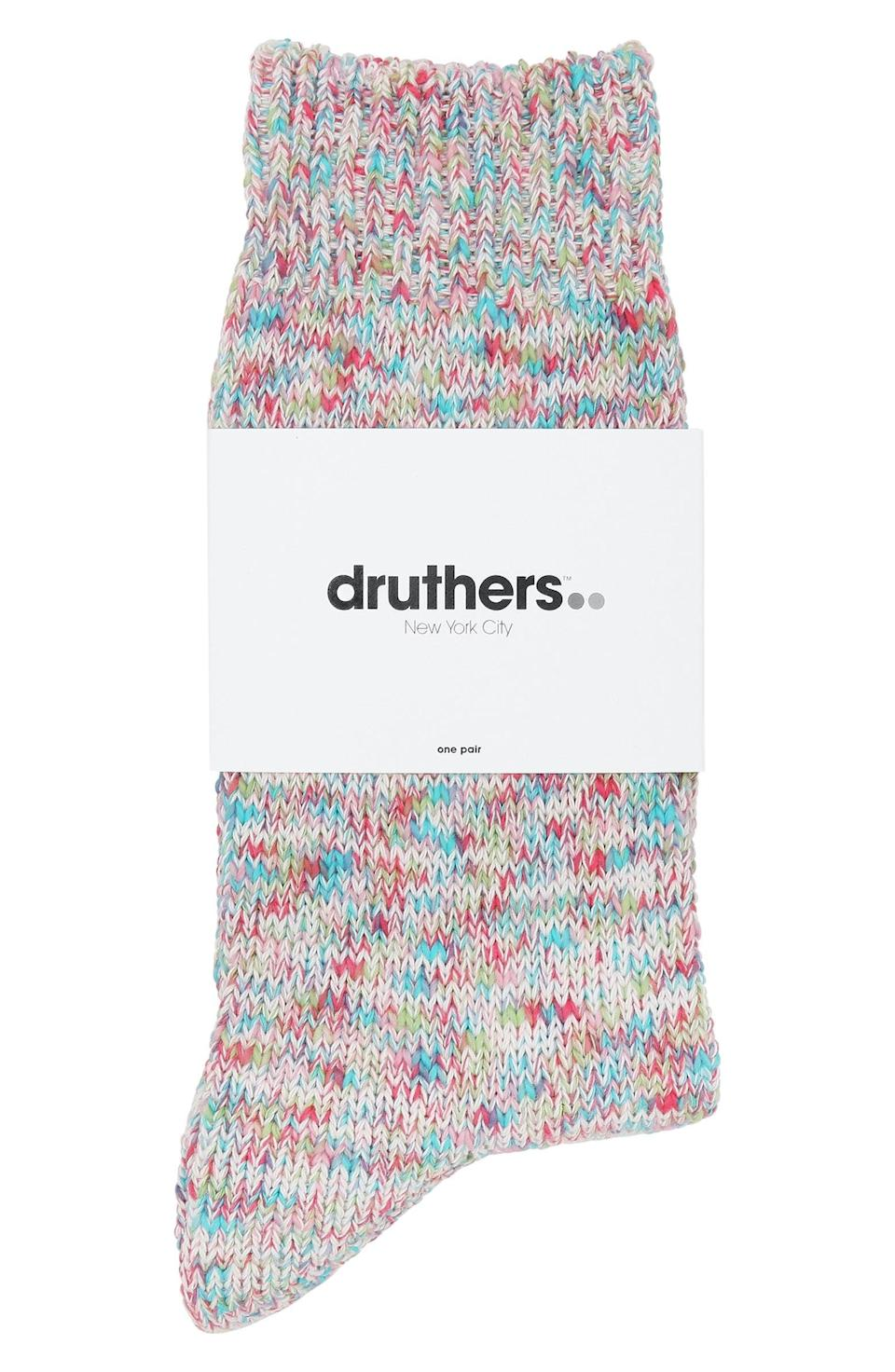 <p>These <span>Druthers Tie Dye Yarn Organic Cotton Blend Crew Socks</span> ($28) are too cute.</p>