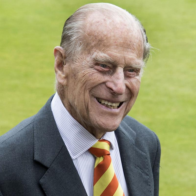 Prince Philip, Duke of Edinburgh, smiles during his visit to Lord's Cricket Ground on Wednesday - Credit: AFP