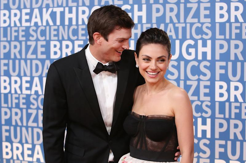 """Ashton Kutcher and Mila Kunisco-starred on """"That '70s Show"""" but didn't become romantically involved until many years later. (Jesse Grant / Getty Images)"""