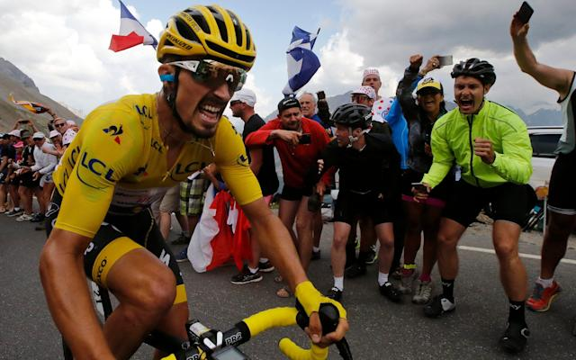 Julian Alaphilippe - wearing the overall leader's yellow jersey - gave the French renewed hope of having a Tour de France champion again - AP