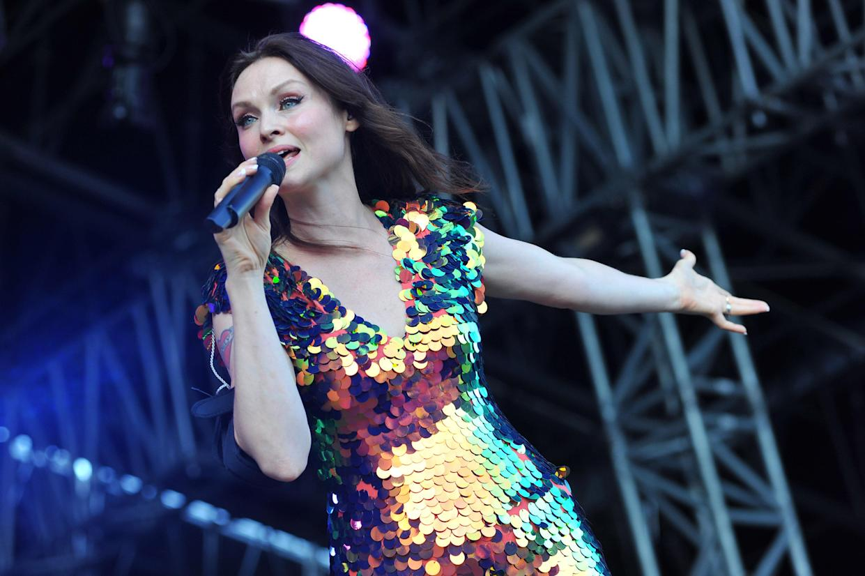LONDON, ENGLAND - JULY 13:  Sophie Ellis-Bextor performs on stage during Day 3 of Kew the Music at Kew Gardens on July 13, 2017 in London, England.  (Photo by C Brandon/Redferns)