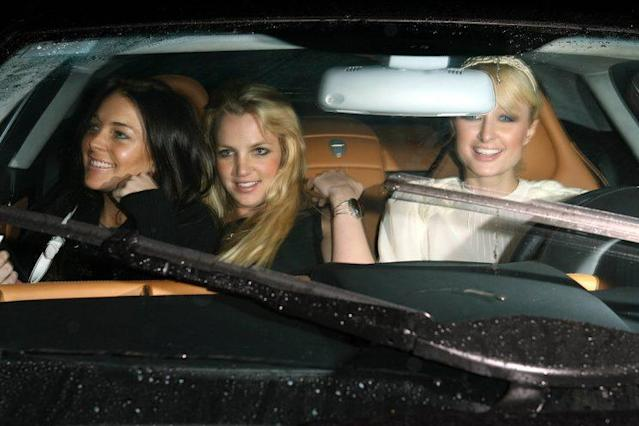 Paris Hilton, Britney Spears, Lindsay Lohan and Lindsay in 2006 (Photo: X17agency exclusive)