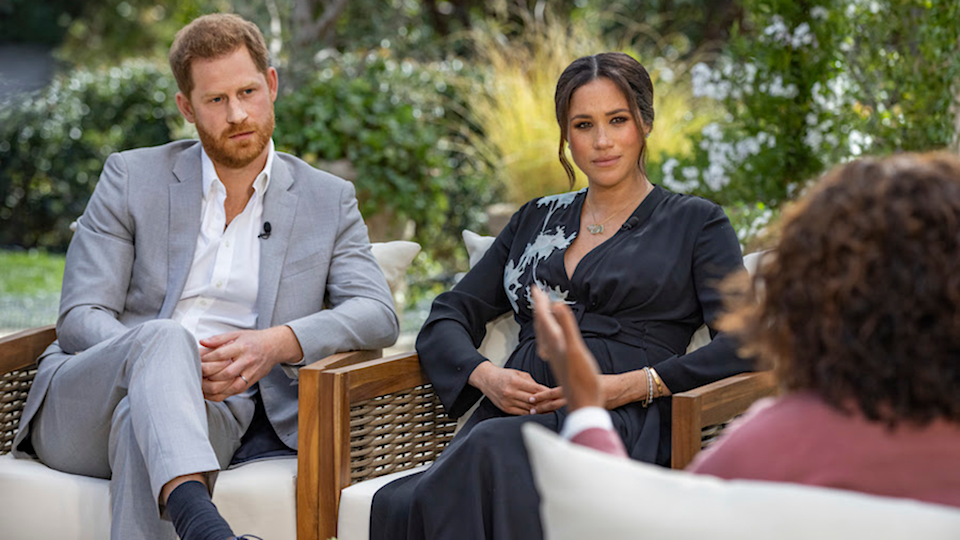 meghan and harry with oprah Photo: CBS