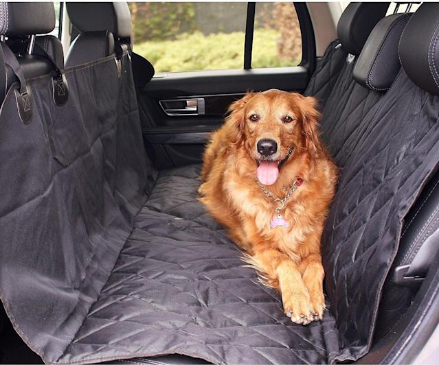BarksBar Luxury Waterproof Car Seat Cover (Photo: Chewy)