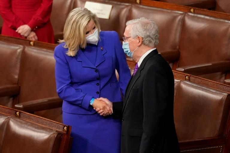 US House Republican Liz Cheney and Senate Minority Leader Mitch McConnell have been criticized by former president Donald Trump for publicly stating that the 2020 presidential election was fair and not marred by voter fraud, as Trump contends