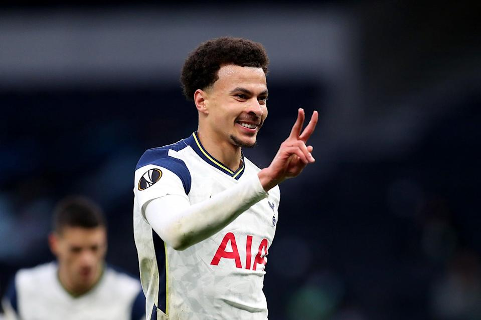 <p>Dele Alli was influential in Tottenham's Europa League win over Wolfsberger</p> (Tottenham Hotspur FC via Getty I)