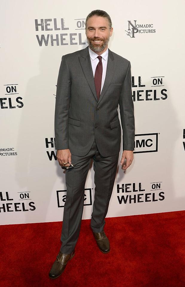 """Anson Mount attends AMC's """"Hell On Wheels"""" Season 2 Premiere at The Paley Center for Media on July 30, 2012 in Beverly Hills, California."""
