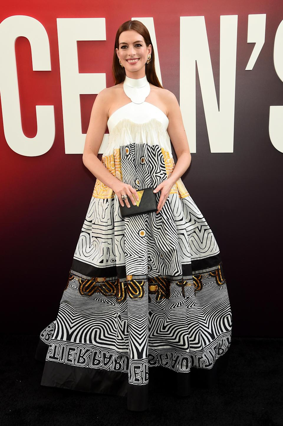 <p>Wearing Jean Paul Gaultier. (Photo: Getty Images) </p>