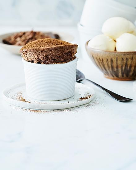 <p>Lyndey Milan's Easter chocolate soufflés</p>