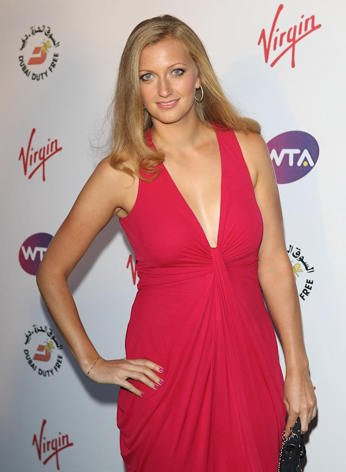 LONDON, ENGLAND - JUNE 21: Petra Kvitova arrives at the WTA Tour Pre-Wimbledon Party at The Roof Gardens, Kensington on June 21, 2012 in London, England. (Photo by Tom Dulat/Getty Images for WTA)