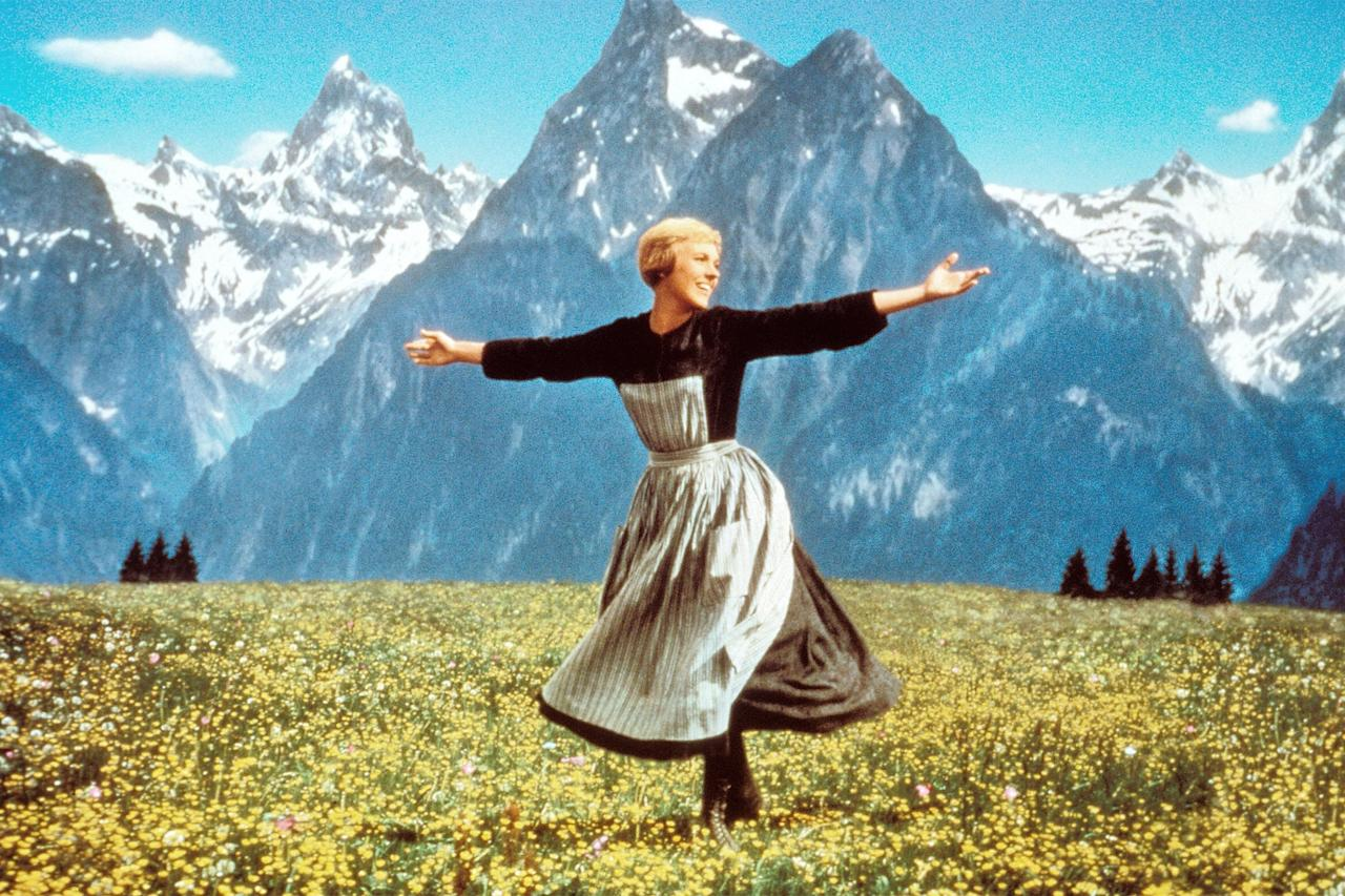 """Though many scenes in this 1965 musical were shot in a studio, those majestic exteriors of <strong>Julie Andrews</strong> twirling about and singing <a href=""""https://www.youtube.com/watch?v=yvQ4t-Nk128"""">""""The Sound of Music""""</a> itself were filmed on location in Salzburg, Austria—just one of many moments that make the film a virtual breath of fresh, mountain air."""