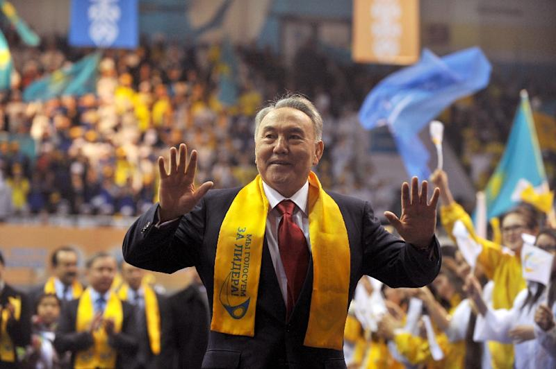Nursultan Nazarbayev won internationally criticised elections in 1999, 2005, 2011 and again in 2015, when he took more than 97 percent of the vote (AFP Photo/VIKTOR DRACHEV)
