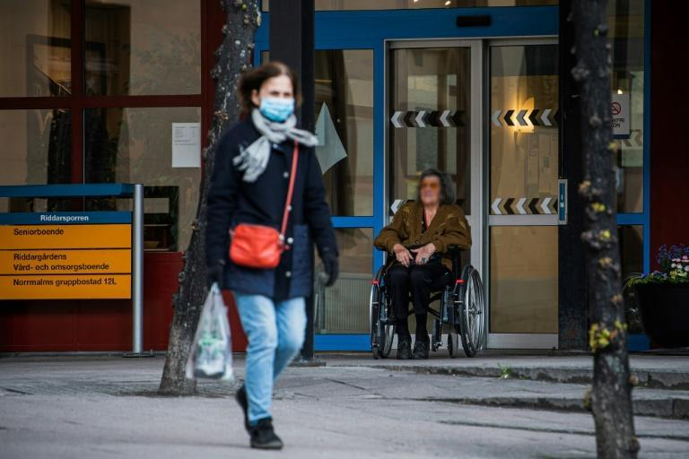 Sweden, whose softer virus approach has garnered international attention, admits it has failed to adequately protect the elderly, with around half of COVID-19 deaths occurring among nursing home residents (AFP Photo/Jonathan NACKSTRAND)