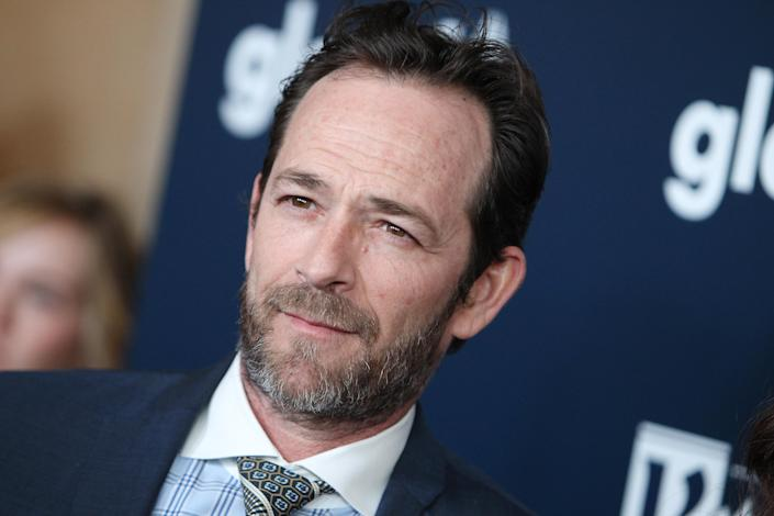 Luke Perry at the Beverly Hilton on April 1, 2017, in Beverly Hills. (Photo: Getty Images)