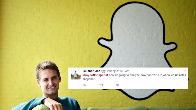 Snapchat CEO Faces Twitter's Wrath Over 'Poor India' Remark