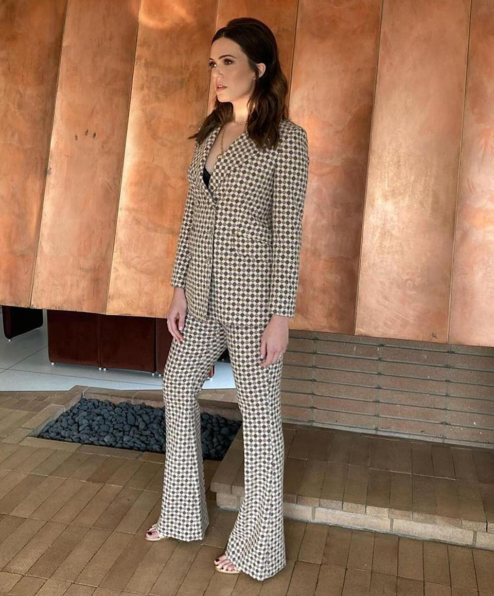 """<p>In early November, Moore opened up on <a href=""""https://people.com/parents/mandy-moore-pregnant-this-is-us-prepared-her-for-motherhood-today-show/"""" rel=""""nofollow noopener"""" target=""""_blank"""" data-ylk=""""slk:the Today show"""" class=""""link rapid-noclick-resp"""">the <i>Today</i> show</a> about how her role as Rebecca Pearson in <i>This Is Us</i> has shaped her understanding of motherhood. """"Playing a matriarch of a family for the last five years and getting to see children at various different chapters and stages, I feel like I'm as pseudo-prepared as I can be,"""" said Moore. </p> <p>""""I've had babies and toddlers and adult <a href=""""https://people.com/tv/this-is-us-season-5-premiere-sneak-peek-jack-rebecca/"""" rel=""""nofollow noopener"""" target=""""_blank"""" data-ylk=""""slk:children [on the show], so I've"""" class=""""link rapid-noclick-resp"""">children [on the show], so I've</a> gotten a pretty good taste and lay of the land.""""</p>"""