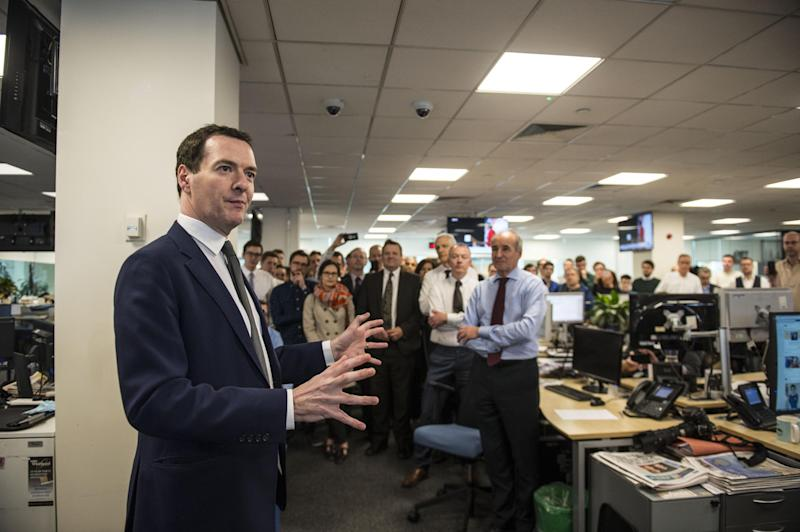 New role: George Osborne addresses Evening Standard staff: Lucy Young