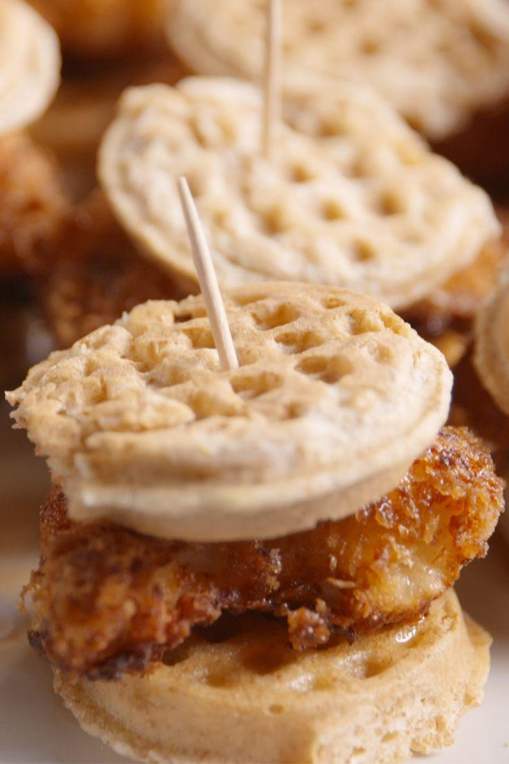 "<p>They're mini, so they'll definitely fit inside a lunch box.</p><p>Get the recipe from <a href=""/cooking/recipe-ideas/recipes/a48596/chicken-waffles-sliders-recipe/"" data-ylk=""slk:Delish"" class=""link rapid-noclick-resp"">Delish</a>.</p>"