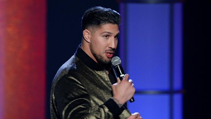 """Brendan Schaub, the co-host of """"The Fighter & the Kid,"""" commented on Bryan Callen on Monday's episode of their podcast. <span class=""""copyright"""">(Showtime)</span>"""