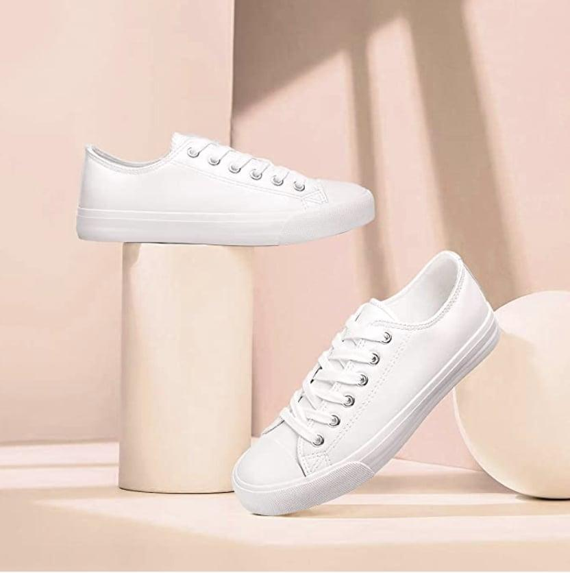 <p>These <span>Aomais Canvas Sneakers</span> ($14-$24) will look great with all your bottoms, from denim skirts to wide-leg trousers.</p>