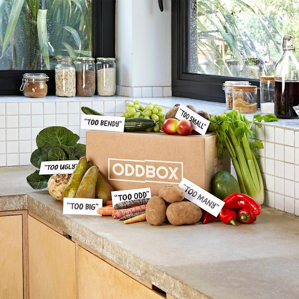 Join the movement and get wonky veg delivered straight to your door with an Oddbox subscriptionOddbox