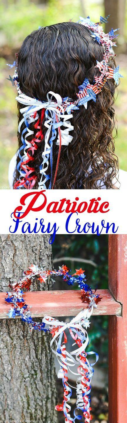 """<p>Help your little ones make their own patriotic fairy crowns to wear for your Independence Day festivities. </p><p><strong><em>Get the tutorial from <a href=""""https://apumpkinandaprincess.com/patriotic-crown/"""" rel=""""nofollow noopener"""" target=""""_blank"""" data-ylk=""""slk:A Pumpkin and a Princess"""" class=""""link rapid-noclick-resp"""">A Pumpkin and a Princess</a>.</em></strong></p>"""
