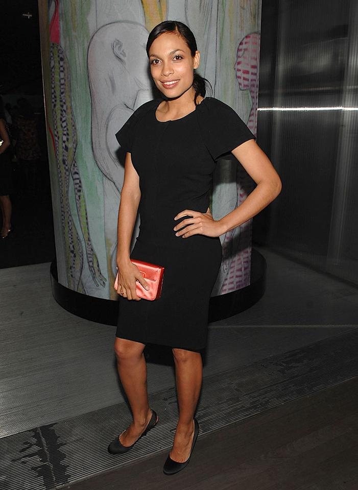 """Rosario Dawson keeps it simple in a classy, hip-hugging LBD. John Shearer/<a href=""""http://www.wireimage.com"""" target=""""new"""">WireImage.com</a> - March 19, 2008"""