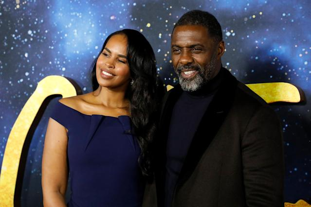 "NEW YORK, NEW YORK - DECEMBER 16: Sabrina Dhowre and Idris Elba attend the world premiere of ""Cats"" at Alice Tully Hall, Lincoln Center on December 16, 2019 in New York City. (Photo by Taylor Hill/FilmMagic)"