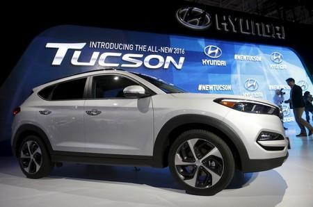 The new 2016 Hyundai Tucson is unveiled at the New York International Auto Show in New York