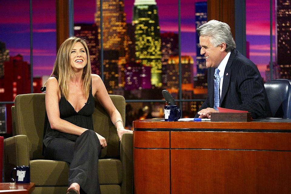 """<p>2003 saw Aniston as Grace Connelly in <a href=""""https://www.imdb.com/title/tt0315327/?ref_=ttmi_tt"""" rel=""""nofollow noopener"""" target=""""_blank"""" data-ylk=""""slk:Bruce Almighty"""" class=""""link rapid-noclick-resp""""><em>Bruce Almighty</em></a>. The movie, which was a box-office hit, also starred Jim Carrey and Morgan Freeman.</p>"""