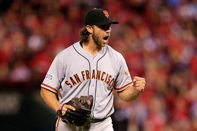 """Talking <a class=""""link rapid-noclick-resp"""" href=""""/mlb/players/8590/"""" data-ylk=""""slk:Madison Bumgarner"""">Madison Bumgarner</a>'s big game and a look around the league early on (Getty Images)"""