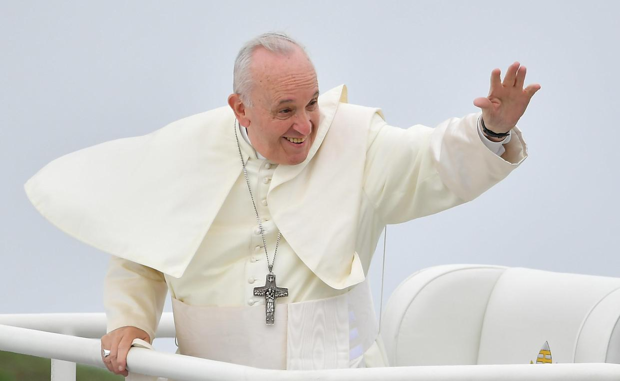 Pope Francis at the closing mass of his Ireland visit at the Phoenix Park in Dublin. (Getty Images)
