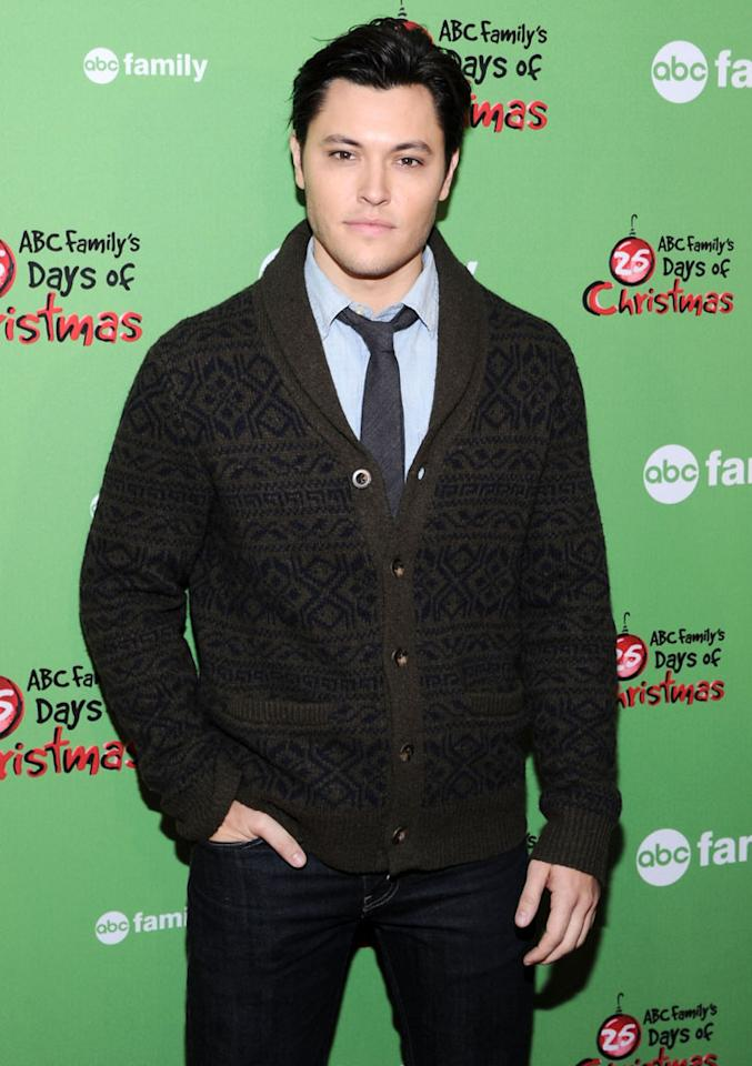 """Blair Redford of """"The Lying Game"""" attends ABC Family's """"25 Days Of Christmas"""" Winter Wonderland event at Rockefeller Center on December 2, 2012 in New York City."""