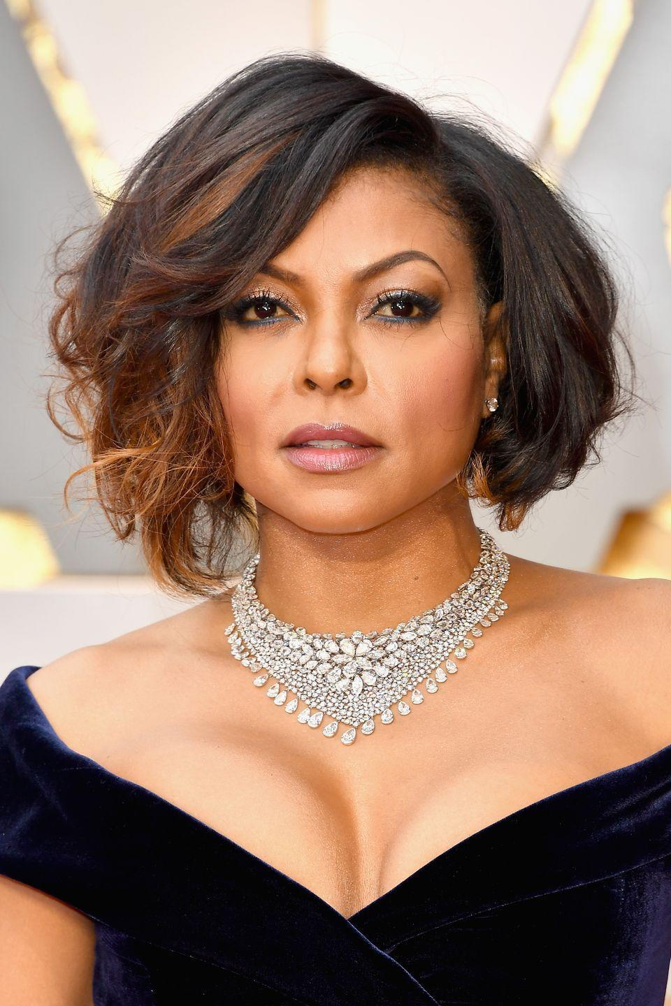 <p>The more curls the merrier, as stunningly showcased by Taraji P. Henson. Glamorous curls breathe so much life into bob cuts, and look good on every face shape to be honest. </p>