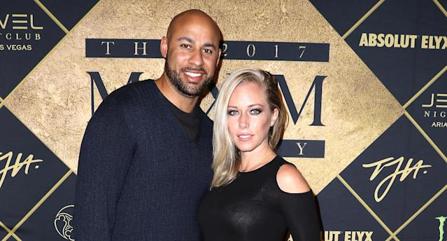 Hank Baskett and Kendra Wilkinson at the Maxim Super Bowl Party on Feb. 4, 2017, in Houston. (Photo: John Parra/Getty Images for Maxim)