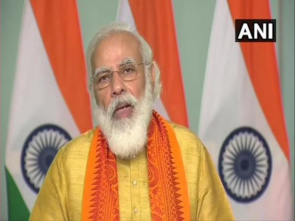 Prime Minister Narendra Modi speaking at the inauguration ceremony on Tuesday. [Photo/ANI]