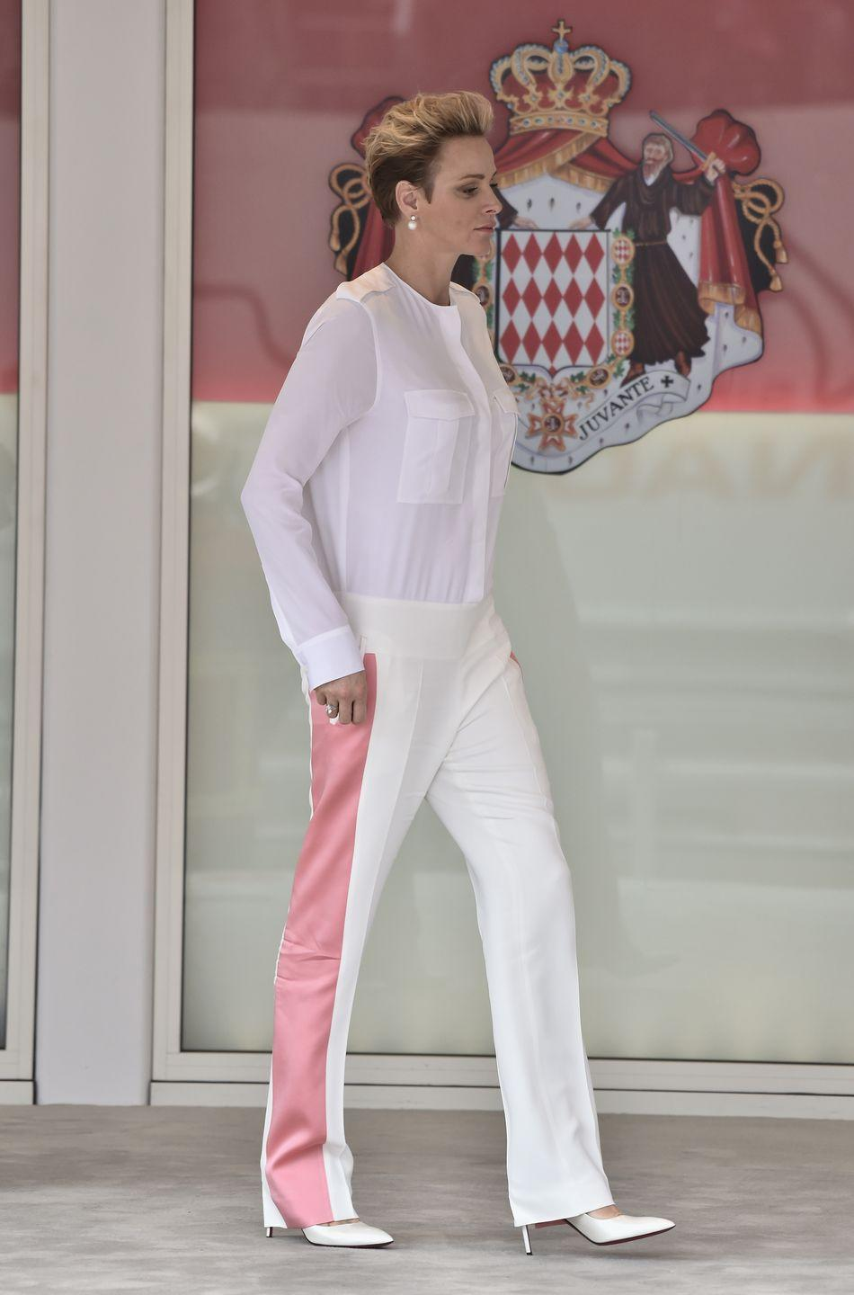 <p>The last person to hold the title of Her Serene Highness was Grace Kelly, Charlene's mother-in-law.</p>