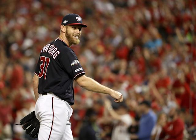 Stephen Strasburg was the latest Nationals starter to dominate the Cardinals. (Getty Images)