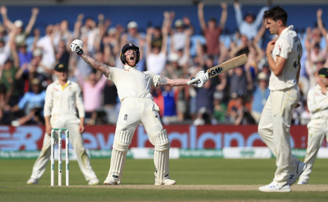It required heroics from the all-rounder on both occasions to salvage a win at Headingley, and a super over in the World Cup final (Mike Egerton/PA via AP)