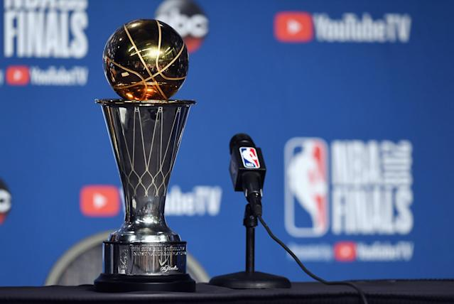 If the NBA restructures its playoff format to simply take the top 16 teams regardless of conference — like many have called for since the Western Conference became much stronger than the East — the NBA estimates that it would cause about 40,000 more miles of postseason travel. (Getty Images)