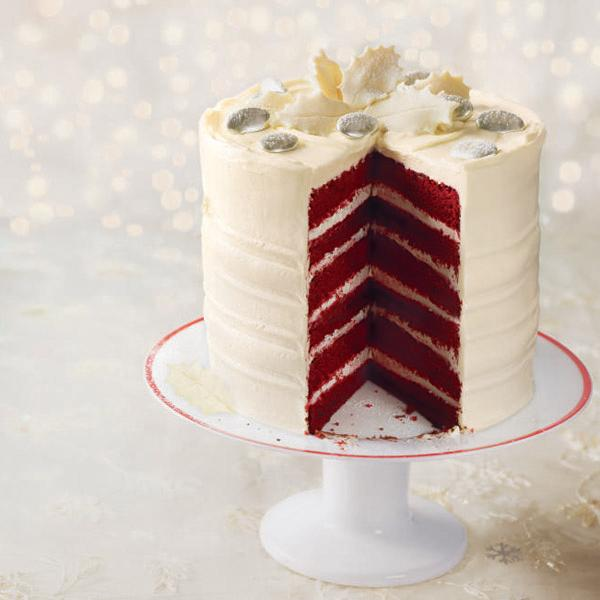 Frosted red velvet layer cake recipe