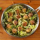 """<p>These garlic butter <a href=""""https://www.delish.com/uk/cooking/recipes/a29185626/italian-meatball-recipe/"""" rel=""""nofollow noopener"""" target=""""_blank"""" data-ylk=""""slk:meatballs"""" class=""""link rapid-noclick-resp"""">meatballs</a> are low carb, gluten free, and all around better for you without skipping out on any of the tastiness. </p><p>Get the <a href=""""https://www.delish.com/uk/cooking/recipes/a30960003/garlic-butter-meatballs-recipe/"""" rel=""""nofollow noopener"""" target=""""_blank"""" data-ylk=""""slk:Garlic Butter Meatballs"""" class=""""link rapid-noclick-resp"""">Garlic Butter Meatballs</a> recipe.</p>"""