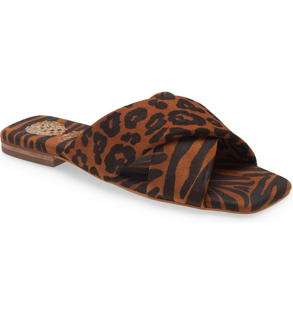 <p>You can easily dress this <span>Vince Camuto Alannie Slide Sandal</span> ($30, originally $80) up with a slip dress, or down with denim cutoffs and a casual tee.</p>