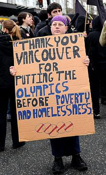 Olympics find home(less) in Vancouver