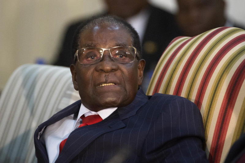 <strong>Robert Mugabe was appointed a WHO ambassador despite standing accused of 'trashing' his own country's health system</strong> (Foto24 via Getty Images)