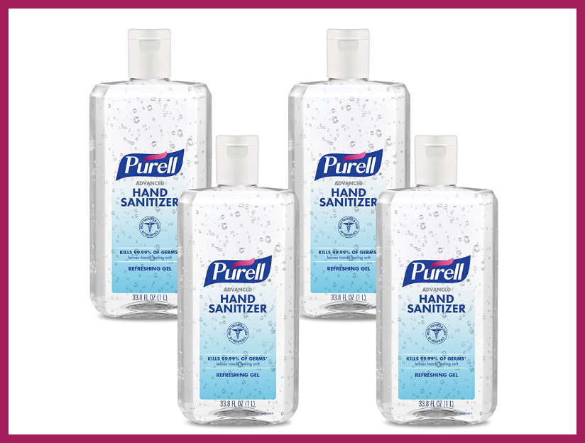Purell Advanced Hand Sanitizer Refreshing Gel, Clean Scent, one-liter Flip Cap Bottle (four-pack). (Photo: Amazon)