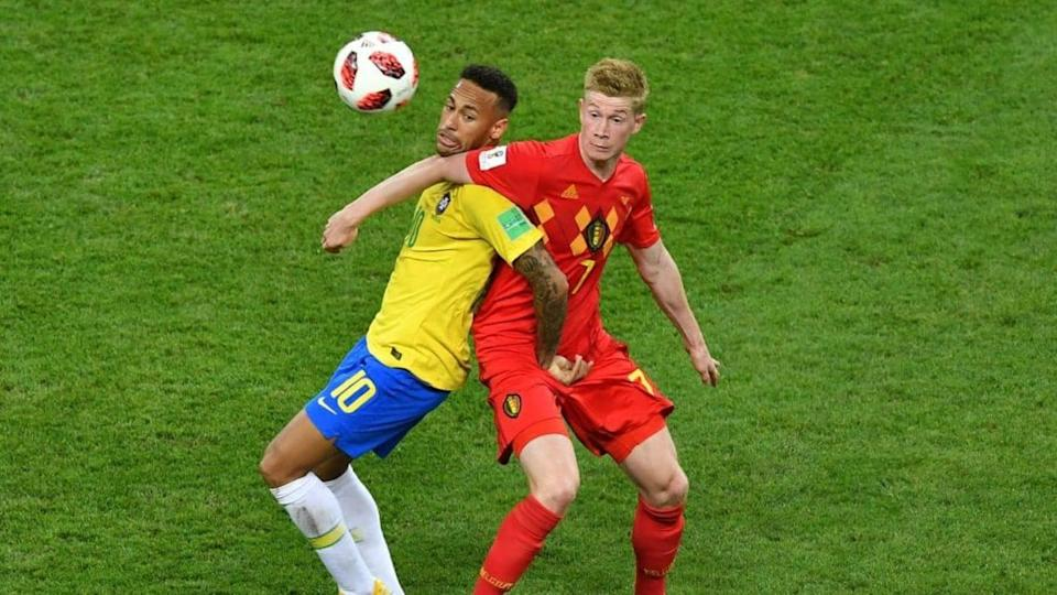 Neymar e De Bruyne si affrontano in nazionale | SAEED KHAN/Getty Images