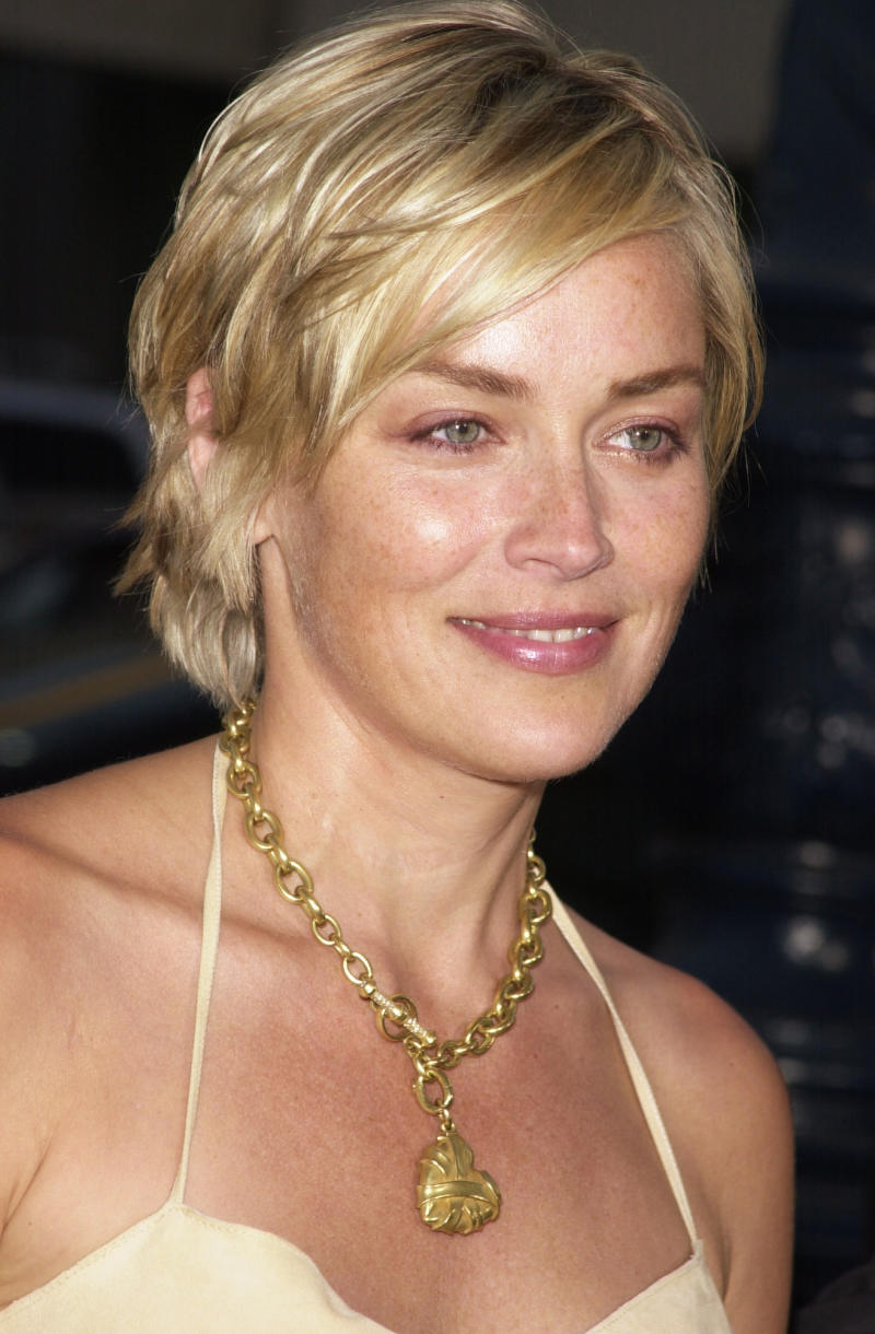"Sharon Stone at the ""A.I. Artificial Intelligence"" premiere. (Photo by Frank Trapper/Corbis via Getty Images)"