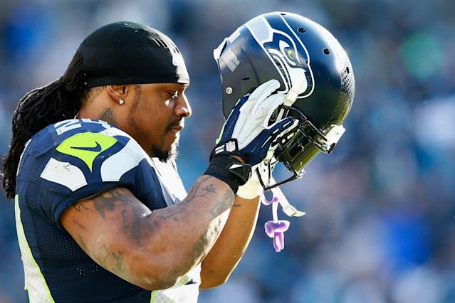Nobody played the game quite like Marshawn Lynch. (Getty)